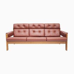 Sofá de tres plazas de cuero de Ekornes