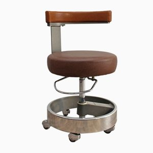 Vintage Doctor's Office Swivel Chair from Siemens