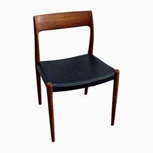 Vintage Modell 77 Stühle von Niels Otto Møller für JL Møllers, 2er Set