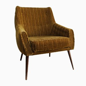 Vintage Cord Lounge Chair