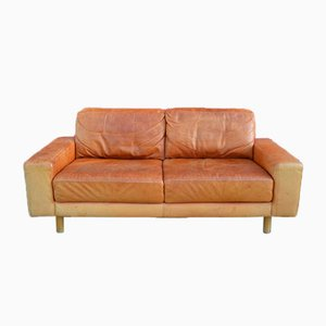 Vintage Danish Cognac Leather Sofa