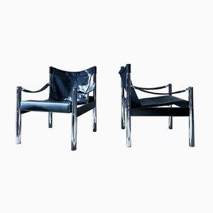 Vintage Safari Sessel von Börje Johanson, 2er Set