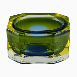 Italian Angular Murano Bowl in Art Glass, 1960s