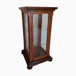 Antique English Shop Display Cabinet in Solid Wood