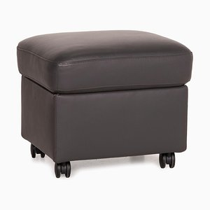 Model E300 Gray Leather Stool from Stressless