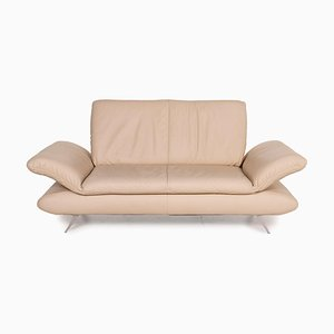 Koinor Cream Leather 2-Seater Sofa from Rossini