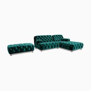 Emerald Green Cocoa Island Sofa Set from Bretz, Set of 2