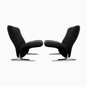 Dutch Lounge Chairs by Pierre Paulin for Artifort, Set of 2