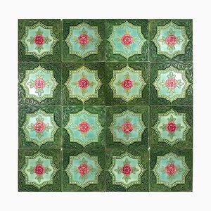 Glazed Relief Tile from S.A. Produits Ceramiques de la Dyle, 1930s