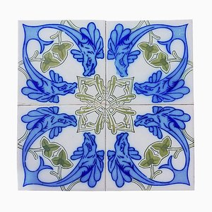 Antique Ceramic Tiles from Onda Spain, 1900s, Set of 34