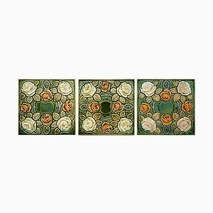 Antique Glazed Art Nouveau Tile, 1920s
