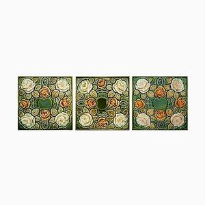 Piastrella Art Nouveau antica smaltata, anni '20
