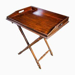 Vintage Butler Tray in Dark Brown