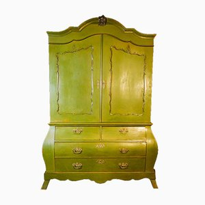 Large Antique Dutch Green Cabinet, 1880s