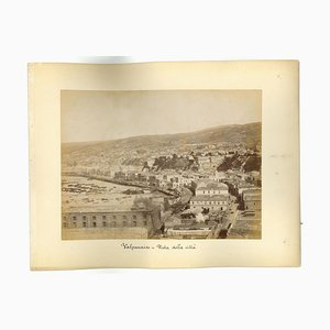 Unknown, Ancient View of Valparaiso Chile, Original Vintage Photo, 1880s