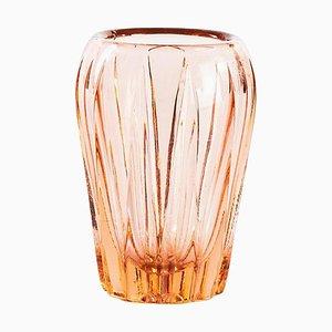 Vaso piccolo vintage in vetro rosa, anni '70