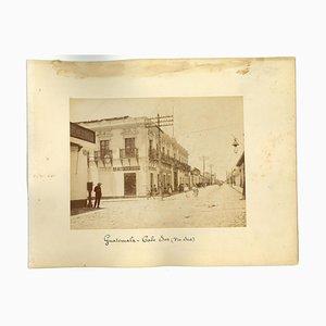 Unknown, Ancient Views of Guatemala City, Original Photo, 1880s
