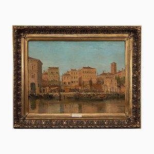 Unknown, View of Venice, Öl auf Leinwand, spätes 19. Jh