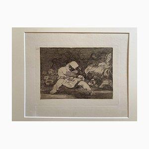 Francisco Goya, Que Locura, Etching, 1863