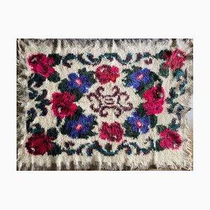 Romanian Floral Handmade Wool Rug