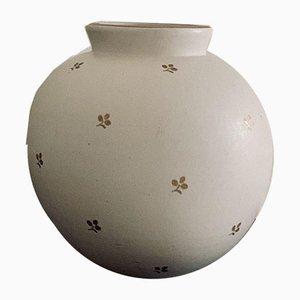 Sphärische Carrara Vase von Wilhelm Kage