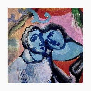 Aguatinta de color, Cuento de muelles 2, Sandro Chia, 1999