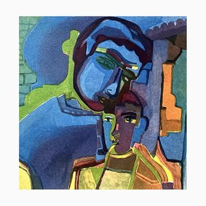 Aquatinta in Farbe, Tale of Spring 3, Sandro Chia, 1999