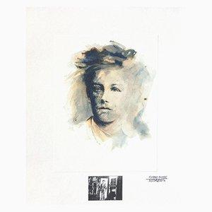 Rimbaud Variations V by Ernest Pignon-Ernest