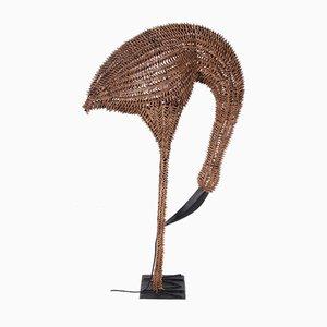 Large Bamboo Floor Lamp of a Bird, USA, 1960s