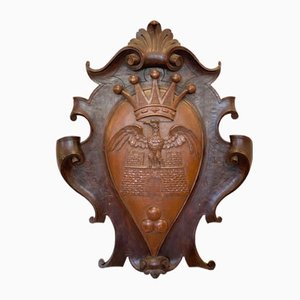 Wooden Aristocratic Coat of Arms, 1900s