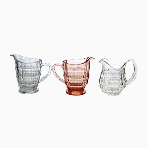Small Glass Jugs by Eduard Wimmer-Wisgrill for Lobmeyr, 1930s, Set of 3