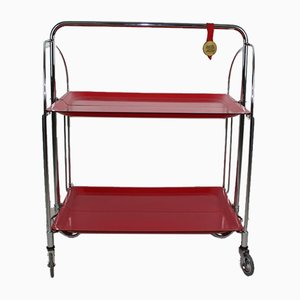 Mid-Century Dinette Foldable Serving Trolley from Bremshey Solingen, 1960s