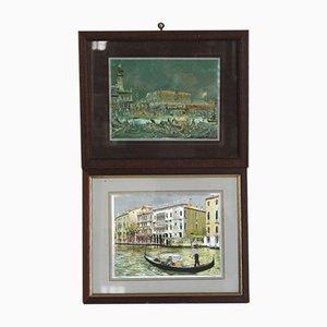Lithographien von Venice with Reflections, 1970er, 2er Set