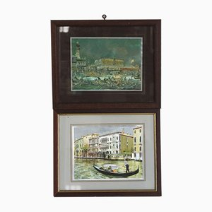 Prints of Venice with Reflections, 1970s, Set of 2