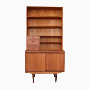 Mid-Century Teak Cabinet with Shelves & Secretaire, 1960s