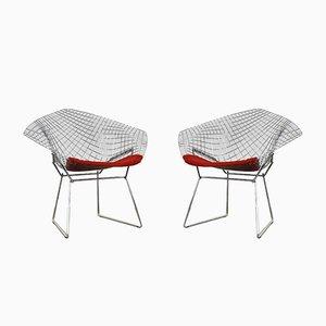 Vintage Diamond Chairs von Harry Bertoia für Knoll Inc. / Knoll International, 1970er, 2er Set