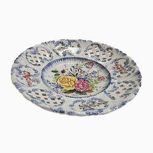 Piatto da parete in ceramica di Bassano, anni '70