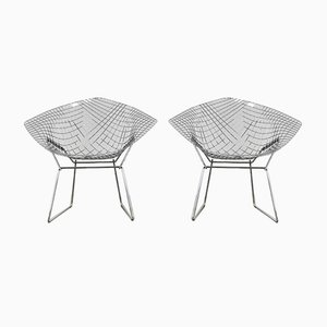 Diamond Chairs by Harry Bertoia for Knoll, 1980s, Set of 2