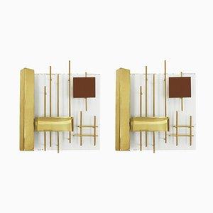 Italienische Wandlampen von Gio Ponti für Lumi, 1960er, 2er Set