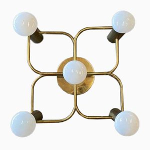 Brass Ceiling or Wall Lamp, 1960s