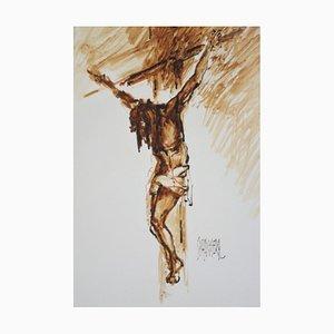 Peinture du Christ par le peintre frioulan Spanghero
