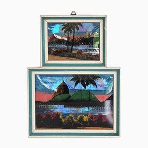 Dipinti di Rio de Janeiro, anni '70, set di 2