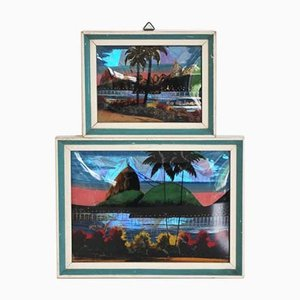 Gemälde von Rio De Janeiro, 1970er, 2er Set