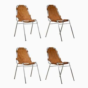 Les Arcs Side Chairs by Charlotte Perriand, 1960s, Set of 4