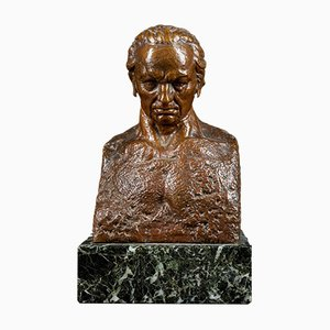 20th-Century, Julio Antonio, Bronze Portrait Bust of Francisco Goya