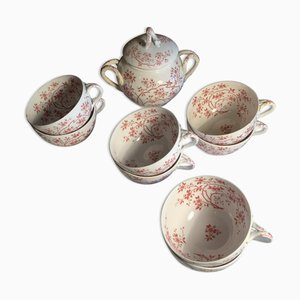 Porcelain Hot Chocolate Service, Set of 9