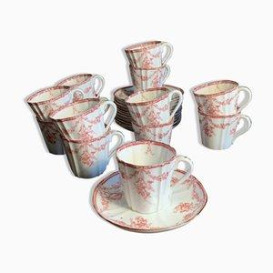 Porcelain Mocha Service, Set of 26