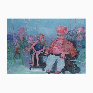Chinese Contemporary Art, Portrait, Grateful für Gods Air von Liu Guoyi