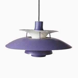 Lampe à Suspension PH5 Violette par Poul Henningsen pour Louis Poulsen