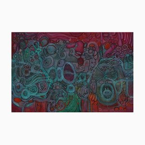 Chinese Contemporary Art, Abstract, Super Happiness No.86 by Liu Guoyi
